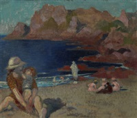petite plage bleue by maurice denis