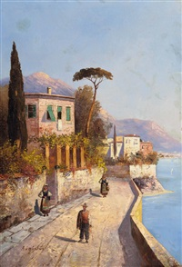 lago maggiore by georg fischhof