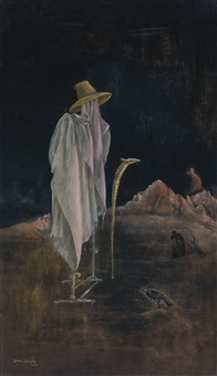 self-portrait with orthopedic brace by leonora carrington