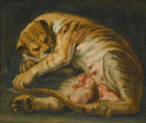 a tigress with her cubs by sir peter paul rubens