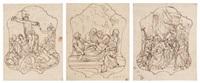 etude pour 13 stations d'un chemin de croix (13 works) by francesco (della polcevera) campora