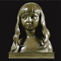 bust of a girl by r. rousseau