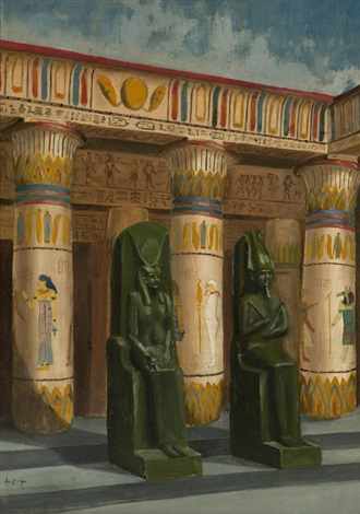egyptian archeological study by louis comfort tiffany