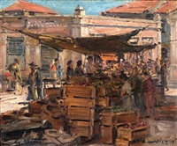 market scene by ludwig blum