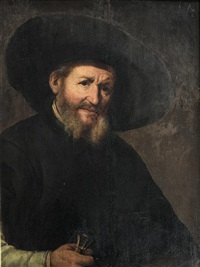 portrait of bearded gentleman by amsterdam school (co.)