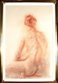seated backside nude by dario campanile