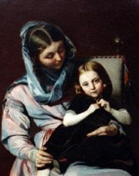 mother and daughter by alexandre (lammlein) laemlein