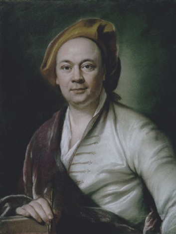 presumed portrait of louis de silvestre holding an artists chalk by joseph vivien