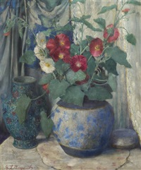 still life with flowers by everett lloyd bryant