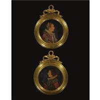 portrait reliefs (pair) by antonio abondio