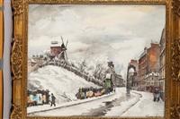 le moulin de la galette sous la neige by frank-will
