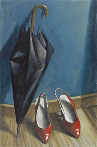 shoes and umbrella by pavlos samios