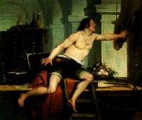 polidore qui, de simple maçon, finit par devenir un grand peintre by charles augustin wauters