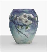 fleurs de pecher vase by gabriel argy-rousseau