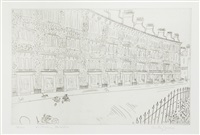 victorian houses, south kensington (+ bal de village, no. 2; 2 works) by anthony gross