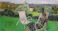 la sieste au jardin by edouard-georges mac-avoy