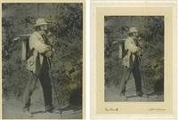 paul cézanne portant son matériel de peintre by eugene pirou