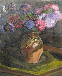 vase with flowers by paul verona