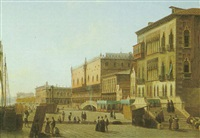a view of the doge's palace, venice by alexandre raulin