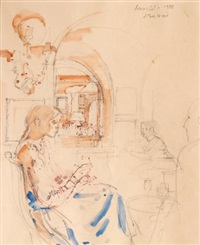 susie in the dining room, annabel's by john stanton ward