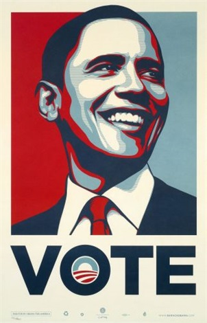 obama vote by shepard fairey