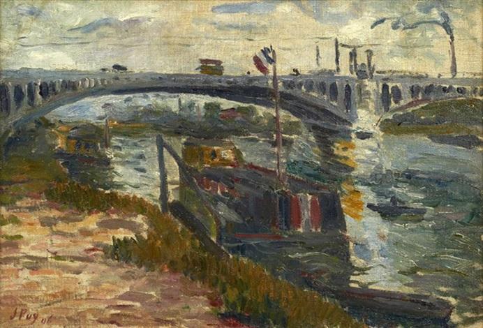 la seine au port dargenteuil by jean puy