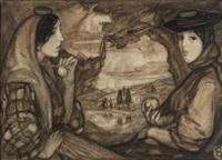paisagem com duas figuras femininas by eduardo viana