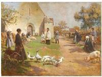 la bénédiction des animaux de ferme by adolphe ernest gumery