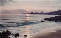 au coucher de soleil, st. jacut by roger de la corbière