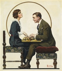 the ouija board by norman rockwell