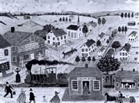 salem depot, new hampshire by albert webster davies