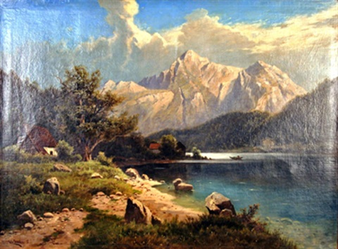 höllengebirge am attersee by fritz chwala