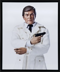 james bond/roger moore by bruce meritte and govin sorel