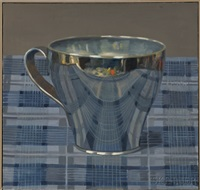 metal tea cup by olga antonova