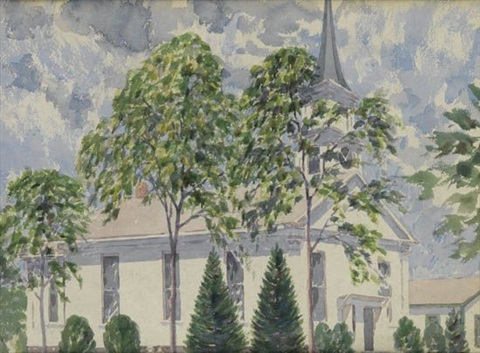 country church by aaron douglas