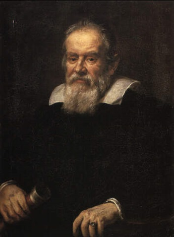 Portrait of Galileo Galilei with telescope by Justus ...