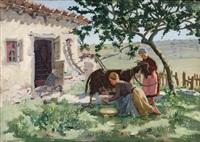 les gardiennes de chèvres by bernard joseph artigue