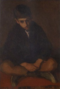 seated boy by nicolas lytras