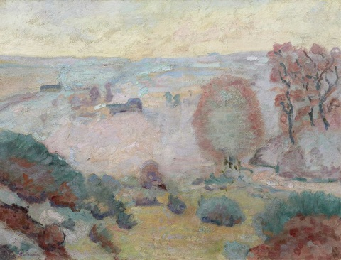 la cote face au pont charraud by armand guillaumin