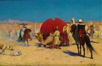 le départ de la caravane de la mariée by henry edward detmold