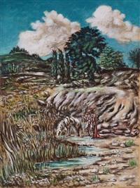 cavaliere alla fonte (omaggio ad ariosto) by alberto savinio