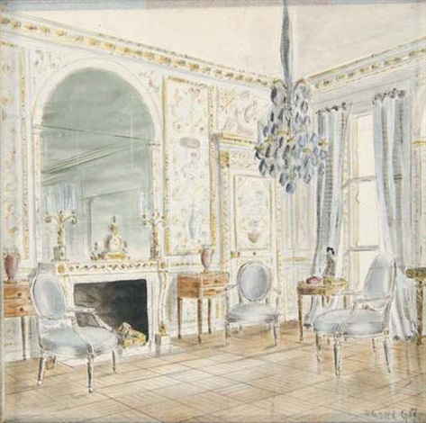 salon louis xvi by walter gay