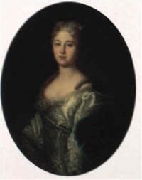 portrait einer vornehmen dame by joseph vivien