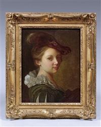 portrait de jeune femme by alexis grimou