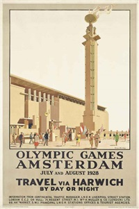 olympic games, amsterdam by anton van anrooy