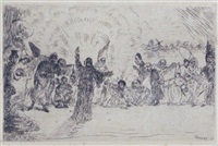 le christ aux mendiants by james ensor