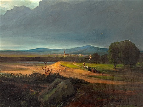 fields in stormy atmosphere by georges michel