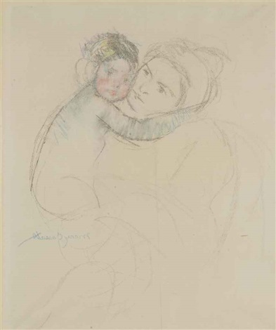 baby embracing her mother by mary cassatt