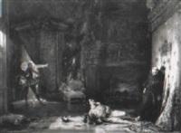 assassinat de henri iii par le moine jacques clément à st. cloud by alexander henri robert van maasdijk