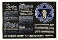 die juden wollen krieg by posters: propaganda